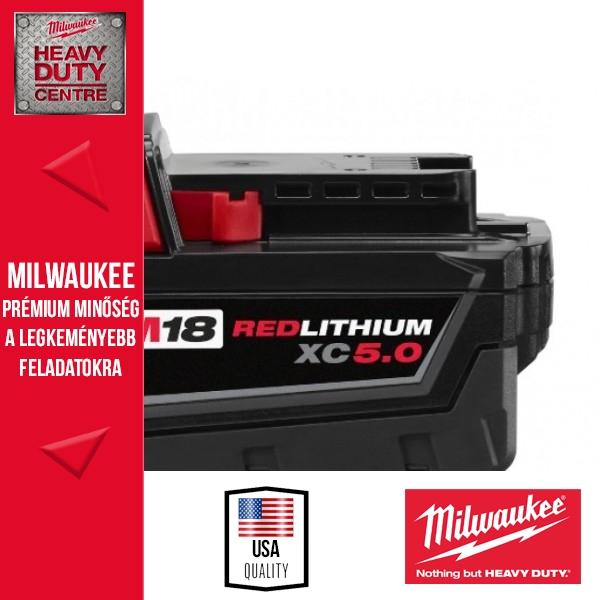 Milwaukee M18 B5 18V 5,0Ah Li-Ion akkumulátor