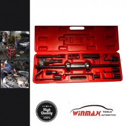 Winmax Karosszéria egyengető és csapágylehúzó csúszó kalapács készlet, 13 darabos