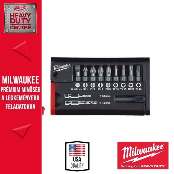Milwaukee 12 darabos kompakt csavarozó bitkészlet