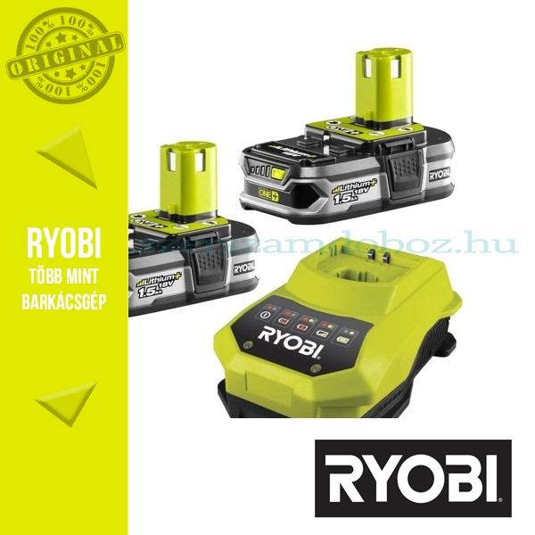 Ryobi 2x1,5Ah Li-Ion akkumulátor RBC18LL15 + töltő csomag