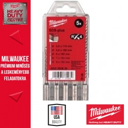 Milwaukee SDS-plus Fúrószár szett 5 db