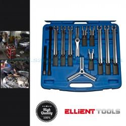 Ellient Tools Univerzális csapágylehúzó készlet, 2 és 3 körmös, 25-130mm, 13 darabos