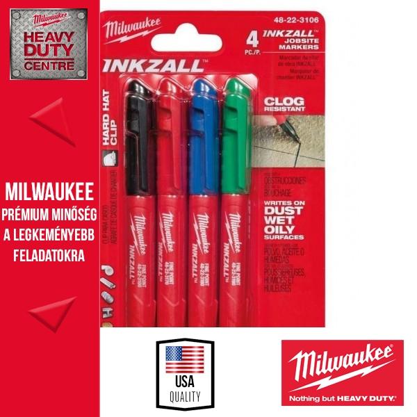 Milwaukee INKZALL Jelölő filc 4 db