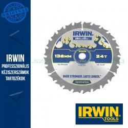 IRWIN körfűrészlap kézi akkumulátoros körfűrészhez 136/10mm 24ATB