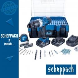 Scheppach DTB 20 PROS akkus ütvefúró készlet 2x2.0Ah 20V