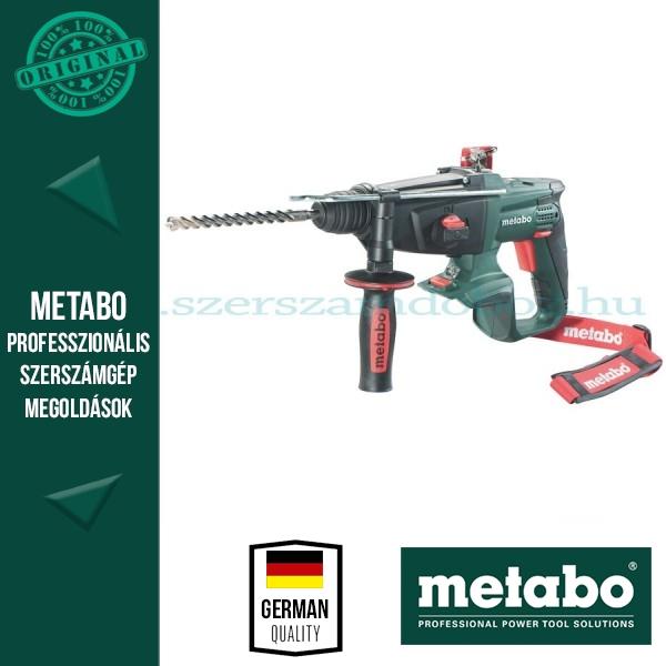 Metabo KHA 18 LTX Akkus kombikalapács