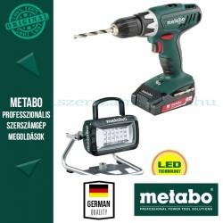 Metabo 18 V SZETT BS 18 Li + BSA 14.4-18 LED + AJÁNDÉK 4,0 Ah akku