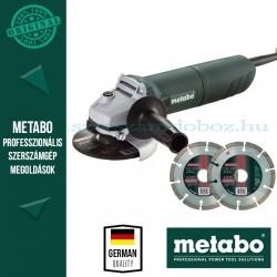 Metabo W 1080-125 Elektromos sarokcsiszoló + AJÁNDÉK 2 db gyémánt vágótárcsa