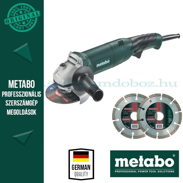Metabo WE 1450-125 RT Elektromos sarokcsiszoló + AJÁNDÉK 2 db gyémánt vágótárcsa