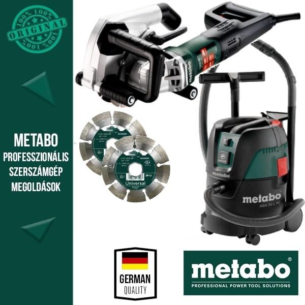 Metabo Építőipari csomag MFE30 Falnútmaró+ASA25 LPC porszívó+2db gyémánttárcsa
