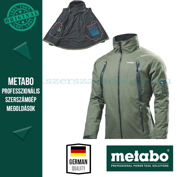 Metabo HJA 14,4-18 fűthető kabát Set - XXL + Akkuval és töltővel