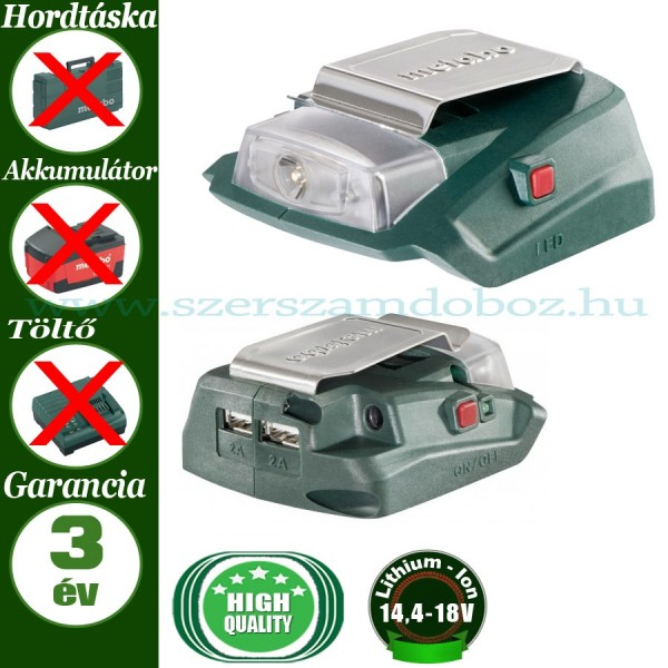 Metabo PA 14.4-18 LED-USB adapter akkus lámpa