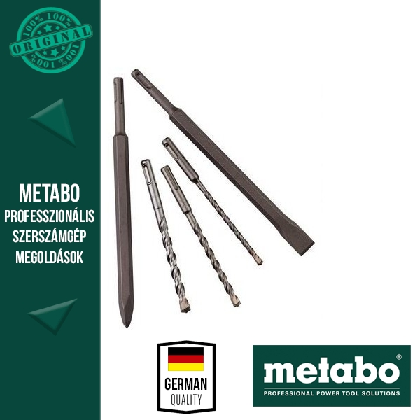 Metabo SDS-plus fúró-/vésőkészlet, 5 darabos