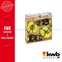 KWB PROFI kampós rakományrözítő heveder 2 db - 35 mm x 6 m