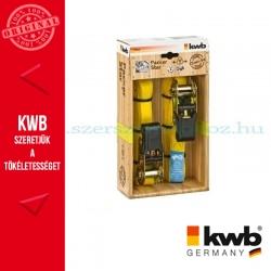KWB PROFI kampós rakományrözítő heveder 2 db - 25 mm x 5 m