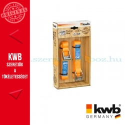 KWB PROFI rakományrözítő heveder 2 db - 25 mm x 2.5 m