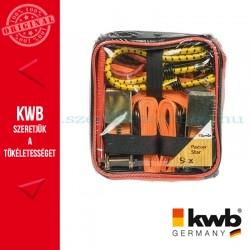 KWB PROFI rakományrözítő klt. 9 db hordtáskában