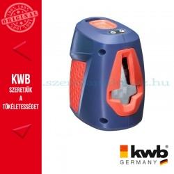 KWB PROFI önbeállós keresztlézer hordtáskával és tripod állvánnyal