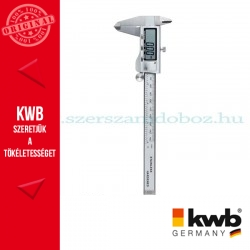 KWB PROFI INOX precíziós digitális matt króm tolómérő