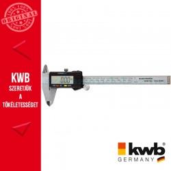 KWB INOX precíziós digitális matt króm tolómérő