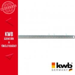 KWB PROFI INOX flexibilis edzett acél vonalzó mm, inch osztással 300 mm