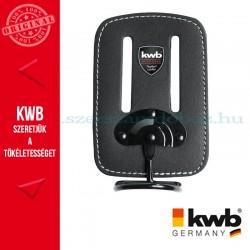 KWB PROFI fekete bőr flexibilis kalapács tartó