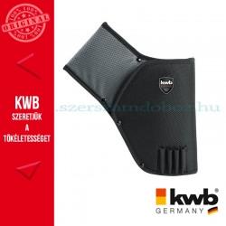 KWB PROFI szürke-fekete gyöngyvászon pisztolytáska (jobbkezes)