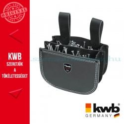 KWB PROFI extra erős marhabőr dupla zsebes szegtáska