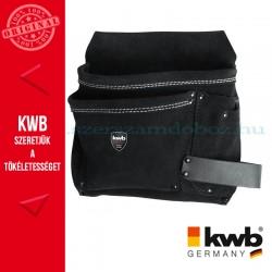 KWB PROFI univerzális fekete bőr szerszámos övtáska