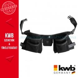 KWB PROFI univerzális fekete bőr dupla szerszámos övtáska