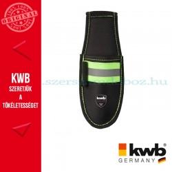 KWB PROFI fekete gyöngyvászon kés tartó fényvisszaverő betéttel