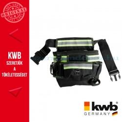 KWB PROFI univerzális fekete gyöngyvászon szerszámos övtáska fényvisszaverő betéttel