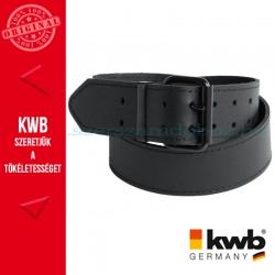 KWB PROFI fekete bőr dupla csatos derék öv 115 x 5 cm