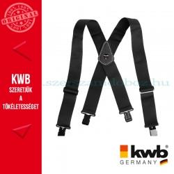 KWB PROFI nadrágtartó fekete 100 x 5.1 cm