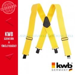 KWB PROFI nadrágtartó sárga mintás 100 x 5.1 cm