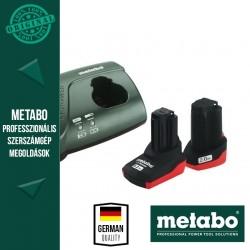 Metabo Akku alapkészlet 1 db 2,0 Ah és 1 db 5,2 Ah