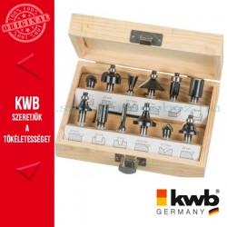 KWB PROFI HSS TCT felsőmaró klt. 12 db