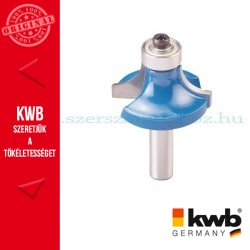 KWB PROFI HSS TCT csapágyas kerekítő kés kemény és puha fára 25,7 x 8 mm