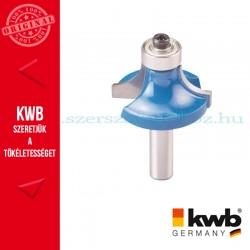 KWB PROFI HSS TCT csapágyas kerekítő kés kemény és puha fára 32 x 8 mm