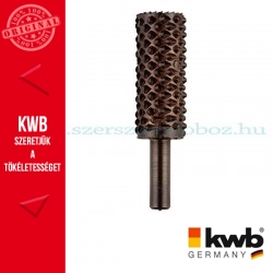 KWB PROFI HCS csapos, hengeres ráspoly fához 15 x 10 x 35 x 6 mm