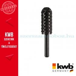 KWB PROFI HCS csapos, lekerekített hengeres profil ráspoly fához 16 x 30 x 6 mm