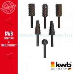 KWB PROFI HCS csapos, kúpos profil ráspoly fához, színesfémhez 6db