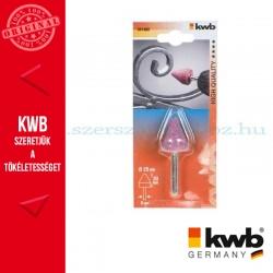 KWB PROFI alu.oxid csapos, hengeres köszörűkő fém, üveg, kerámia és műanyaghoz 25 x 25 x 6 mm