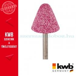 KWB PROFI alu.oxid csapos, kúpos köszörűkő fém, üveg, kerámia és műanyaghoz 25 x 32 x 6 mm