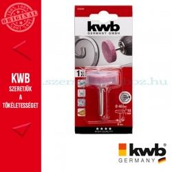 KWB PROFI alu.oxid csapos, kúpos végű hengeres köszörűkő fém, üveg, kerámia és műanyaghoz 25 x 25 x 6 mm
