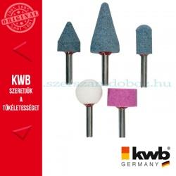 KWB PROFI alu.oxid csapos köszörűkő fém, üveg, kerámia és műanyaghoz 5db