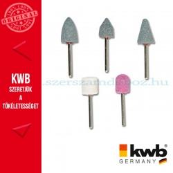 KWB PROFI alu.oxid csapos köszörűkő klt. 5 db fém, üveg, kerámia és műanyaghoz