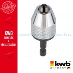 """KWB PROFI 1/4"""" hexagon befogású kulcsnélküli gyors tokmány 0.5-6.5 mm"""