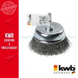 KWB PROFI HSS hullámos drótkefe csésze 0,3 x 75 mm
