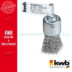 KWB PROFI HSS hullámos drótkefe csésze 0,3 x 25 mm